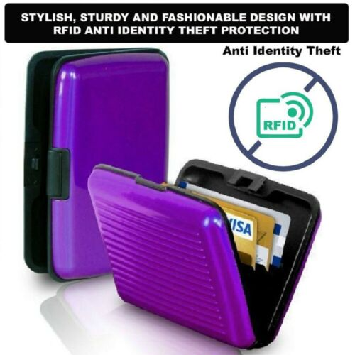 RFID Scan Protected Security Wallet Bank Credit Card Holder Aluminium Hard Case