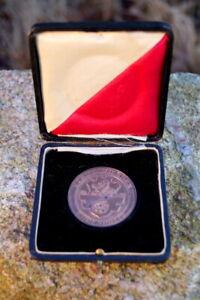 wunderschoene-alte-Kupfer-Medaille-Stadt-Viersen-Ehrenpreis-Pfostenschau-1922