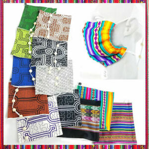 ONE OF A KIND FACE MASKS FASHION DESIGNS FROM PERU, MADE WITH FINE COTTON FABRIC
