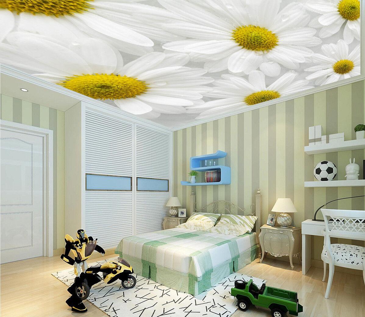 3D Weiße Blumen 744  Fototapeten Wandbild Fototapete BildTapete Familie DE Kyra