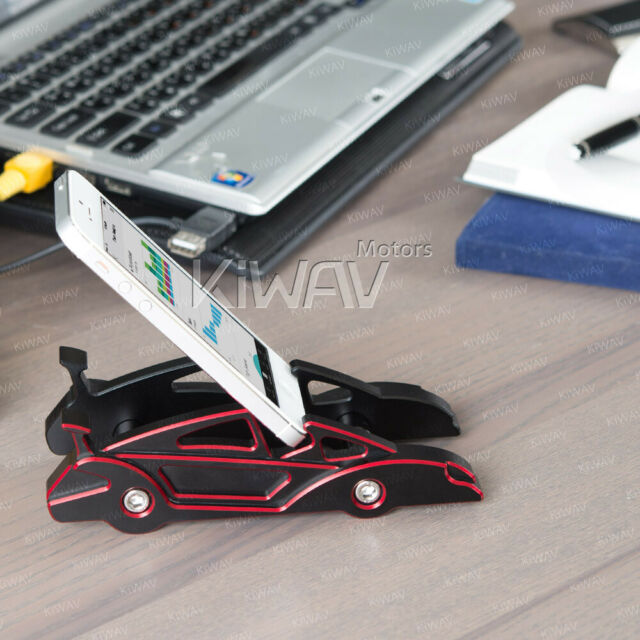 dual-angle desktop mount CNC Aluminum red sports car style for iPhone 4 4s