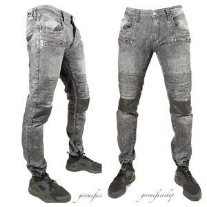 Peviani-Fermeture-Motard-Etoile-Jean-Hommes-G-Noir-Droit-Hip-Hop-Jogger-Pants