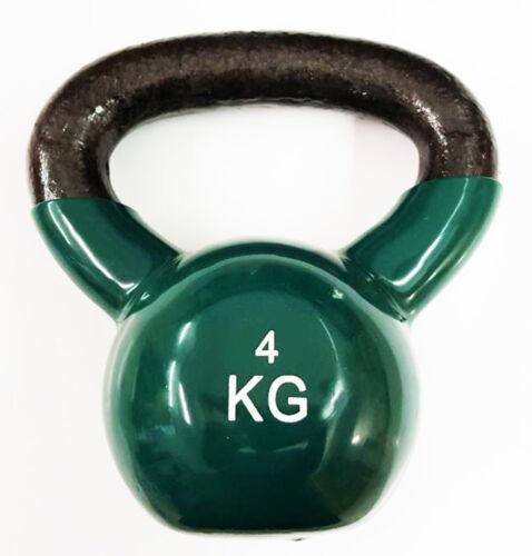 GREEN Ironman Colour Vinyl Kettlebell 4kg