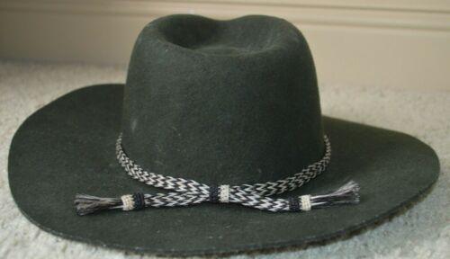 Brixton Mfg. Company Green Corded Cowboy Hat Size