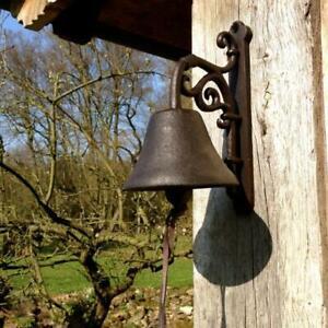 Schone-Glocke-Vintage-Gartenglocke-aus-Gusseisen-antik-und-mit-tollem-Klang