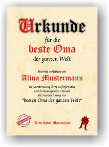 Geschenk-fuer-die-BESTE-OMA-DER-WELT-Danke-sagen-Urkunde-Danksagung-Geschenkidee