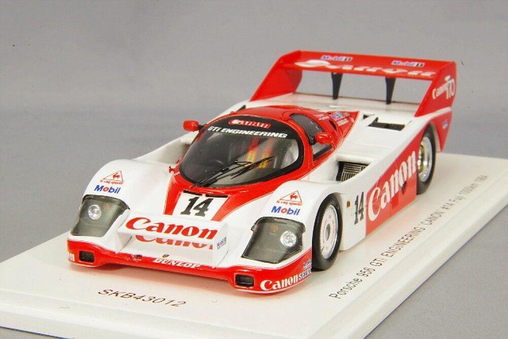 Spark 1 43 Porsche  956 CANON 1984 WEC FUJI 1000km SKB43012 Japan LTD