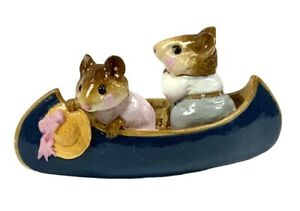 Wee-Forest-Folk-Two-in-a-Canoe-initialed-Special-Color-Blue-Canoe-MS-11