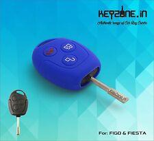 Silicone Key Cover for Ford Figo / Fiesta / Fusion 3 button remote key (Blue)