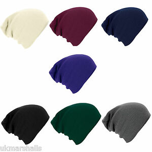 SLOUCH-BEANIE-KNITTED-OVERSIZE-BEANY-HAT-CAP-7-GREAT-COLOURS-FAST-POSTAGE