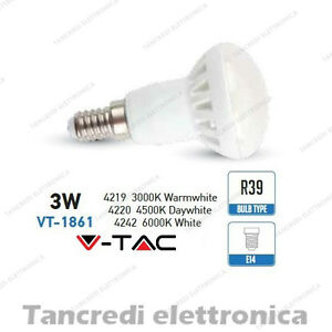 Lampadina-led-V-TAC-3W-25W-E14-VT-1861-R39-faretto-spot-bulb-reflector-lampada