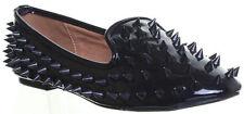 Salt & Pepper Black Patent Spikes Ballarina flat  Shoes Size 3,5 or 8 (NEW)