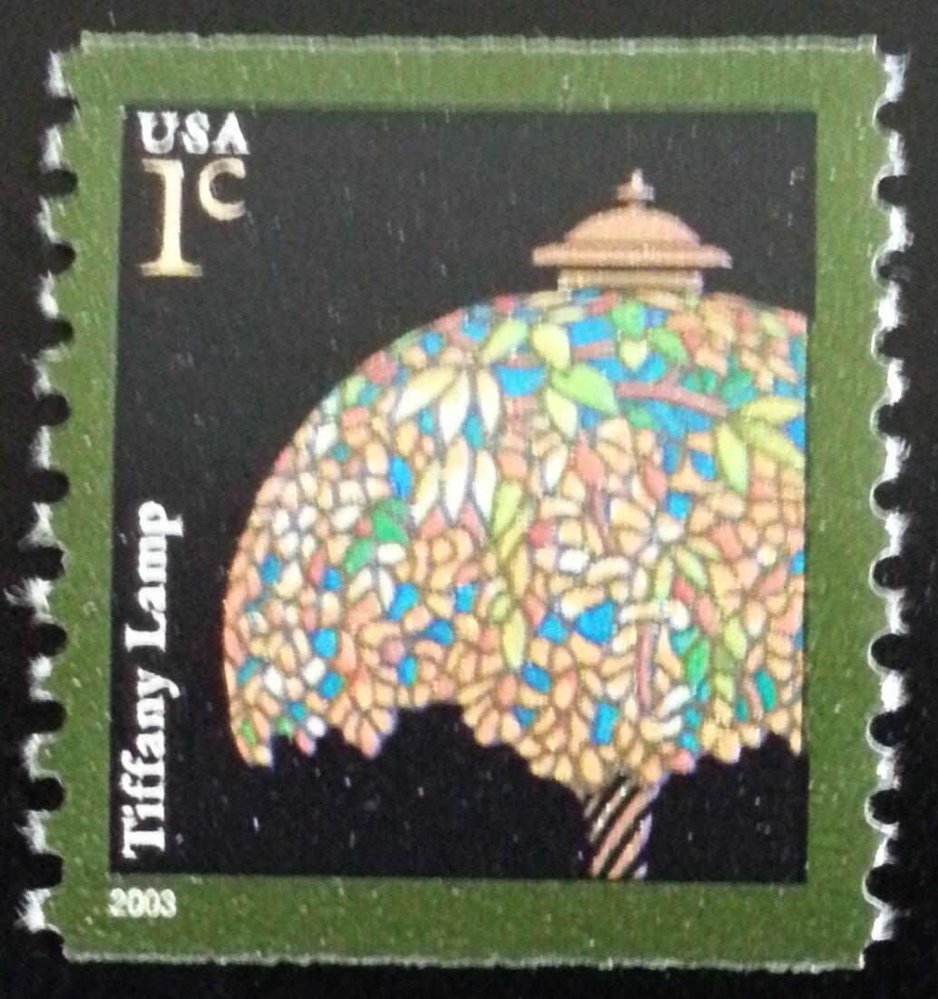 2003 1c Tiffany Lamp, Coil Scott 3758 Mint F/VF NH