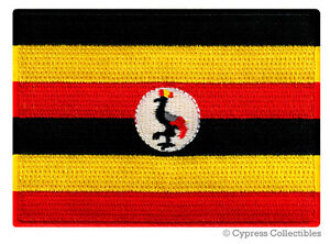 UGANDA FLAG embroidered iron-on AFRICAN PATCH SOUVENIR EMBLEM BANNER AFRICA new