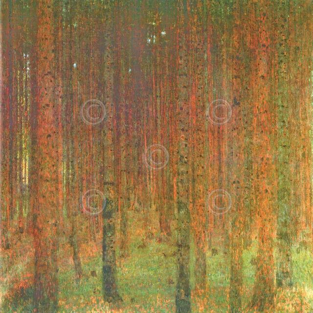 ART PRINT - Tannenwald II by Gustav Klimt Forest Tree Poster 22x22