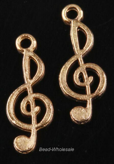 Lots 10pcs Tibetan Silver Music Notation Charms Pendant Findings 26x10mm