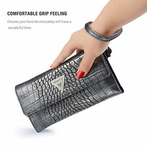 Luxury Leather Wallet Case Cover Hand Bag Clutch Purse for iPhone XS Max Samsung