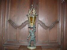Rarität Museale ca. 200 Jahre alte Tischlampe Lampe Laterne massiv Bronze