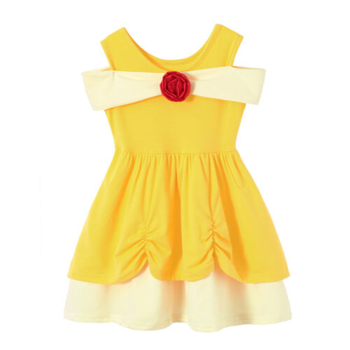 Children Belle Princess Dress for Girls Cosplay Costumes Dress Up Party Clothing