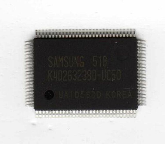 1pcs K4D263238F-QC50 Samsung 128 MBit DDR SDRAM 1M x 32-Bit x 4 Banks