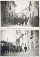 Palazzolo sull'Oglio Brescia 2 foto del 1945 con scorci del paese