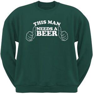hombre verde cerveza sudadera necesita cuello de redondo Este con una adulto dgO4wqAxH
