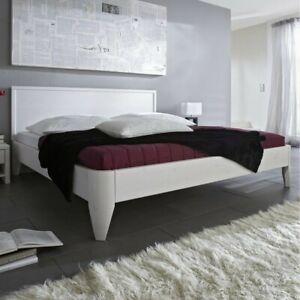 Details Zu Massivholz Doppelbett 200x200 Höhe 39cm Weiß Kiefer Massiv Holz Bett Gestell