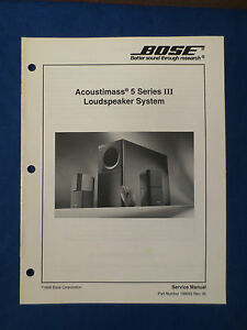 bose acoustimass 5 series iii am 5p iii speakers service manual rh ebay ie Bose Acoustimass 5 Series Manual bose acoustimass 5 series ii service manual