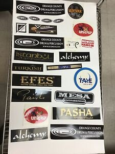 Vintage-Drums-Music-Stickers-Lot-Taye-Paiste-Efes-Warwick-G1-2