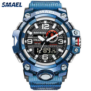 SMAEL Men Sport Watch Electronic Digital Wristwatch Large Dial Male Gift Watches