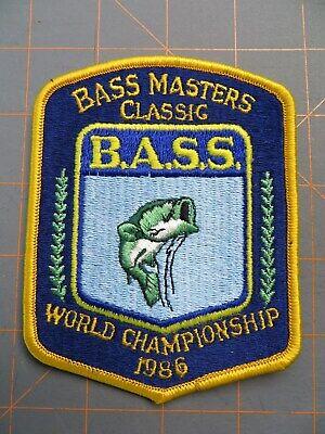 RARE 1990  Bassmasters Classic Participant Patch 4 1//2 x 3 1//2 inch B.A.S.S.