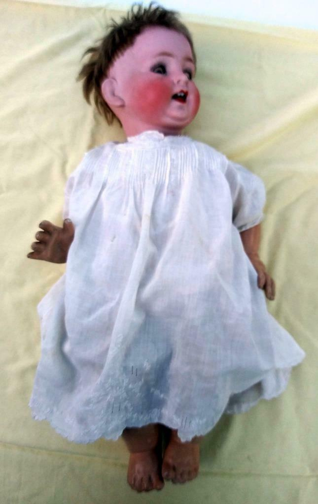 Antique Old Japan Japanese Bisque Porcelain Head Composition Body Baby Doll Toy