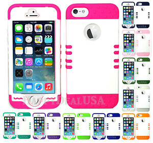 For-Apple-iPhone-5-5s-SE-KoolKase-Hybrid-0Silicone-Cover-Case-Pearl-White-P