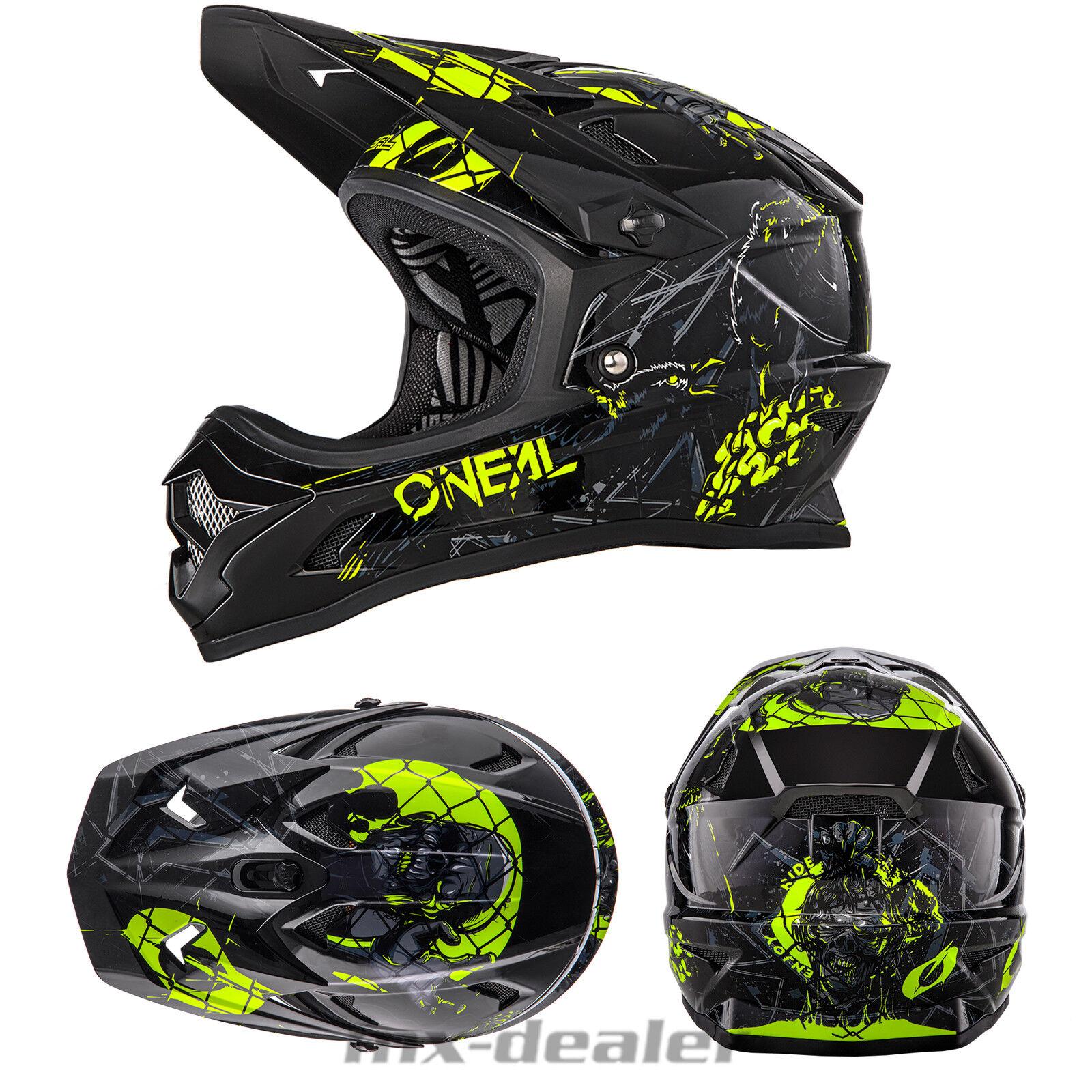 2019 Oneal Backflip Rl 2 Zombi Negro Dh Bmx Bicicleta de Montaña Casco MTB