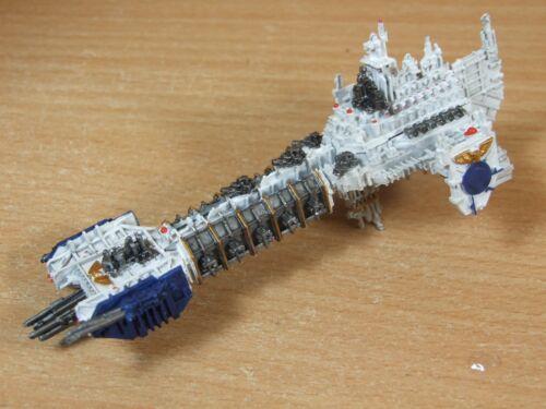 Metal classique Battlefleet Gothic Ultramarines Battlebarge bien peint (1447)