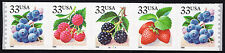 Sc# 3305a 33 Cent BERRIES (1999) MNH PNC/5 P# B2221 SCV $10.00