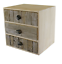 Drift-Wood-Effect-3-Drawer-Cabinet-With-Pebble-Handles thumbnail 1