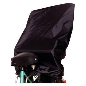 Regenschutz Regenhaube Wetterhaube Fahrrad-Sitz Fahrradsitz Staubschutz schwarz