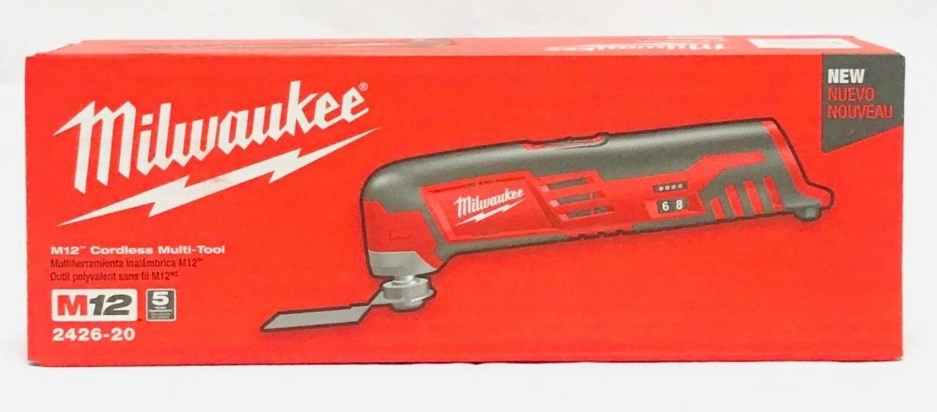Milwaukee 2426-20 12V Li-Ion M12 Multi Oscillating Tool - Tool Only Brand New