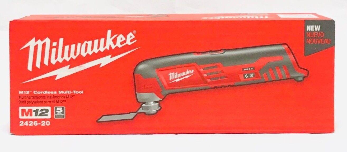 Milwaukee 2426-20 12V Li-Ion M12 Multi Oscillating Tool - Tool Only Brand New