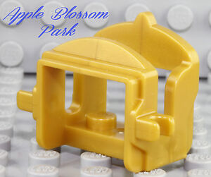 NEW-Lego-Minifig-Pearl-GOLD-HORSE-SADDLE-w-2-clips-Camel-Cow-Animal-Castle-Gear