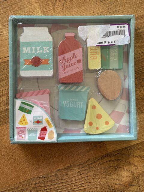 Kids Wooden Blocks Pretend Play Food Grocery Kitchen Pantry Toy Set 8 Pcs For Sale Online Ebay