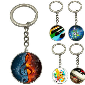 NE-G-Major-Music-Note-Piano-Pattern-Pendant-Keychain-Keyring-Key-Holder-Bag-Dec
