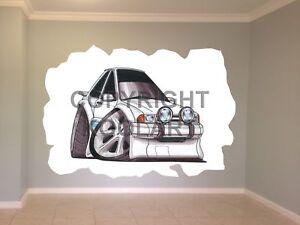 Huge-Koolart-Cartoon-Ford-Rs-Turbo-Series-1-Wall-Sticker-Poster-Mural-310