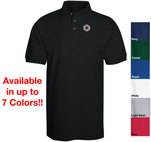 STAR WARS Imperial Empire Logo Embroidered Polo Shirt Avil in 7 Colors Sith