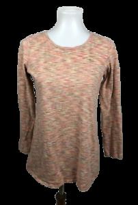 Pure-J-Jill-Women-039-s-Size-S-Knit-Brushed-Mixed-Long-Sleeve-Top-Shirt-Scoop-Neck
