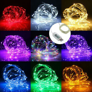 50-100LED-USB-Operated-Mini-Copper-Wire-String-Fairy-Lights-Lamp-Xmas-Party-Vy