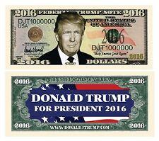 50 Donald Trump President Money Fake Dollar Bills Million 2016 Political Lot