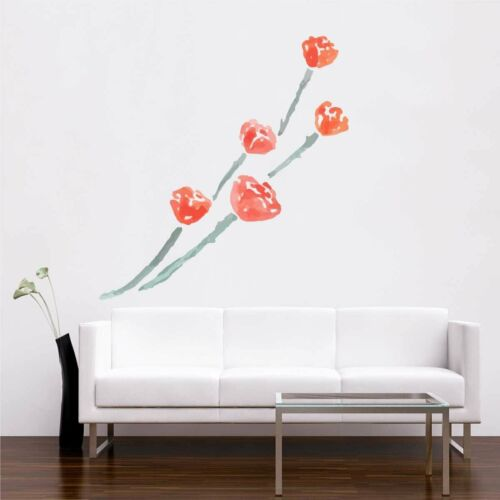 Details about  /Red Rose and Blue Stem Wall Sticker Removable Art Vinyl Decal Mural Living Room