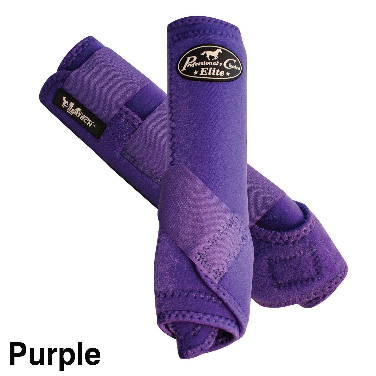 Professional's Choice VenTECH Elite Sports Medicine FRONT Pair Boots PURPLE
